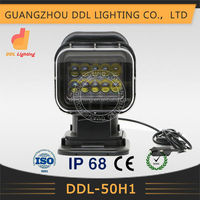 Hot sale 50w remote control working light led truck light 24v remote area led work light