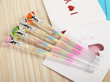 Mixed Bling Bling Diamond Crystal Rainbow Gel Pen Cute School Gel Pen For Students Kids Christmas Gift