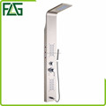 FLG modern design stainless steel wall mounted shower panel with light