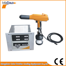 Portable test type electrostatic powder coating gun with 1L cup