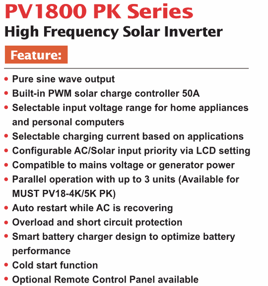 Hot sale ! Hybrid solar inverter 3000VA PWM solar inverter support Wifi GPRS RS485 GSM USB