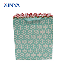 Reusable available custimize shopping paper christmas grocery carrying bag