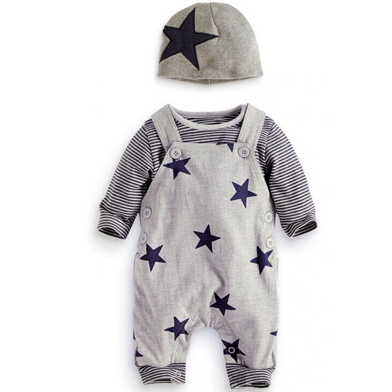 3 pcs Fashion Cotton Baby Bib Pants Clothes for Children <strong>Kids</strong> Boys