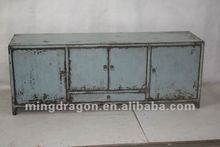 chinese antique furniture pine wood Shanxi one drawer four door blue cabinet