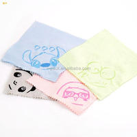 100% polyester microfiber cleaning cloth/anime printing glasses cloth/bags and pouches for glasses