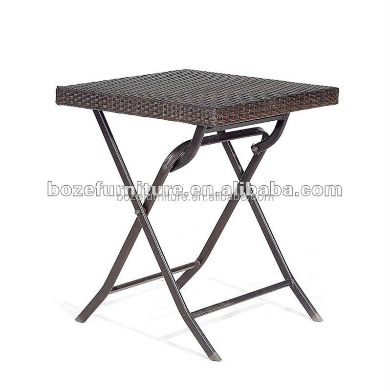 Rattan Cheap Outdoor Wrought Iron Folding Table