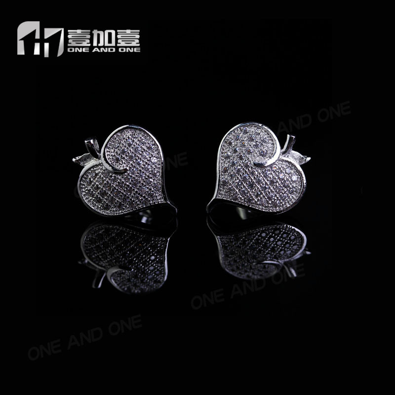 simple designer cute micro pave settting earrings with cubic zircon for cute girls