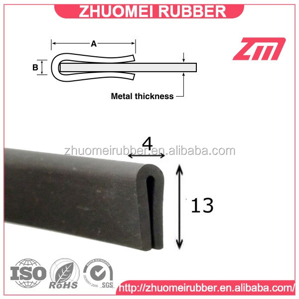 Glass Protect Rubber U Channel Edge Trim Seal