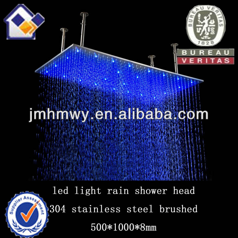 New design Top quality LED universal shower heads with ceiling arm