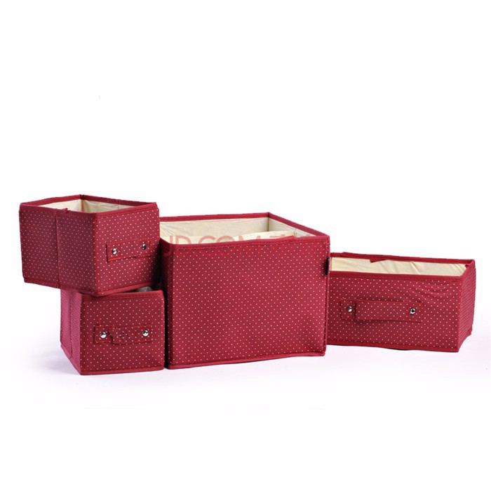 Factory price hot selling excellent quality small fabric storage boxes