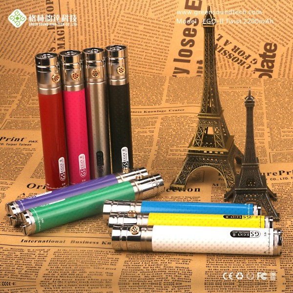 Disposable E Vaporizer GS EgoII Twist 2200mah Disposable Vapor E Cigar E Vaporizer