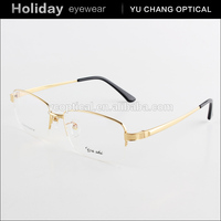 Brand designer fashion semi rimless air titanium eyeglass frames, china titanium frames for eyeglasses