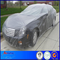 Disposable LDPE covers car windshield snow cover