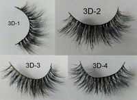 many kinds of 3D mink eyelashes luxury 3D mink lashes 3D mink fur eyelashes