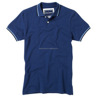 High quality luxury 2015 custom made Men's 100% Cotton Pique Tipped Polo Shirt, New T-shirts Tee Top