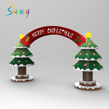 New Style Inflatable Customized Produce Advertising Christmas Tree Arch For Decoration
