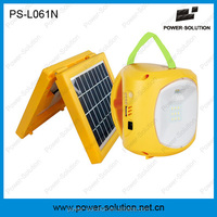 Portable 2W solar rechargeable camping lantern with phone charger