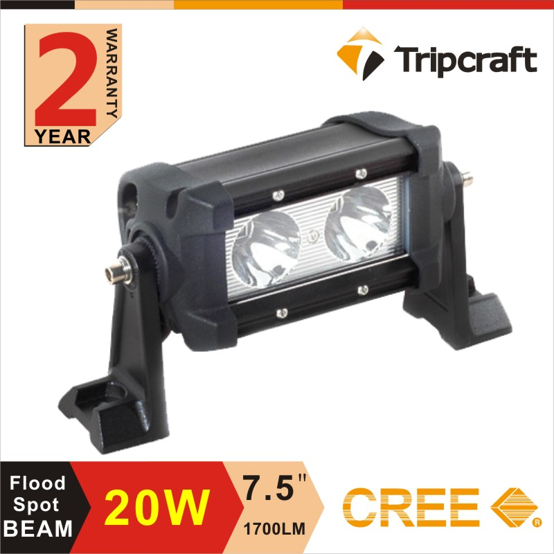 Factory direct 7.5 inch mini led light bar with CREEs chips 20w led work light