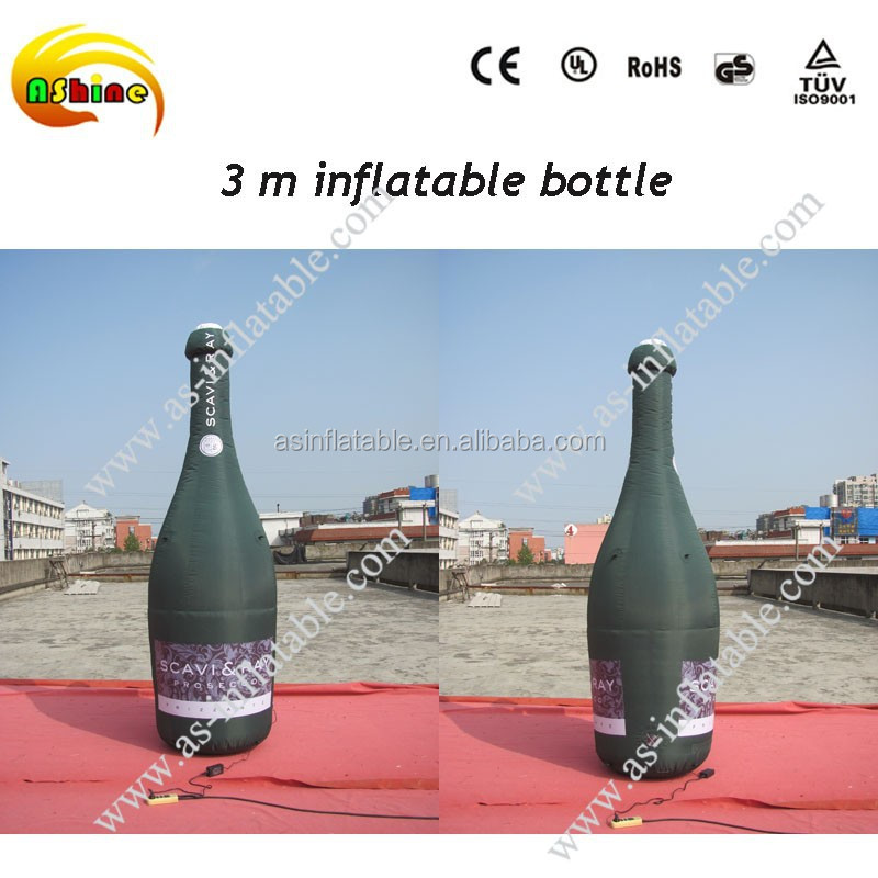 superior advertising effect model giant inflatable beer bottle