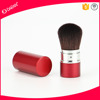 Hot sale red retractable powder cosmetic brush