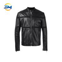 OEM manufacture customized quilted latest design leather jacket for men