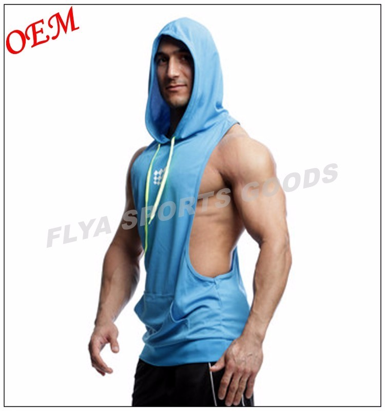 Muscle Gym Fitness Pullover Mens Cotton Sleeveless Hoodie Vest