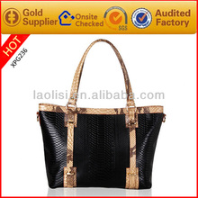 Guangzhou wholesale luxury brand name handbag leather crocodile handbag