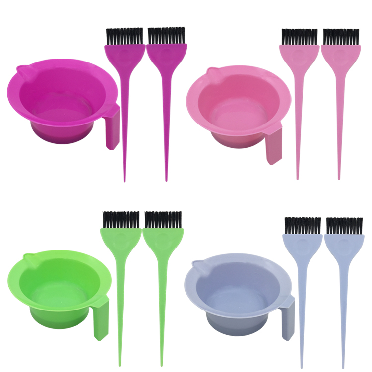 Plastic hair dying comb hair dye brush hairdressing salon tools and equipment