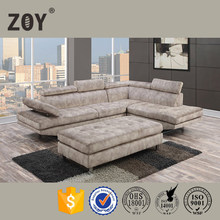 Big Chaise With Adjustable Headrest Indoor Sofa zoy-97820