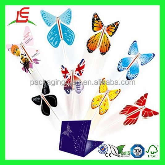 BZ317 New Product Flying Paper Butterfly Toys for Kid