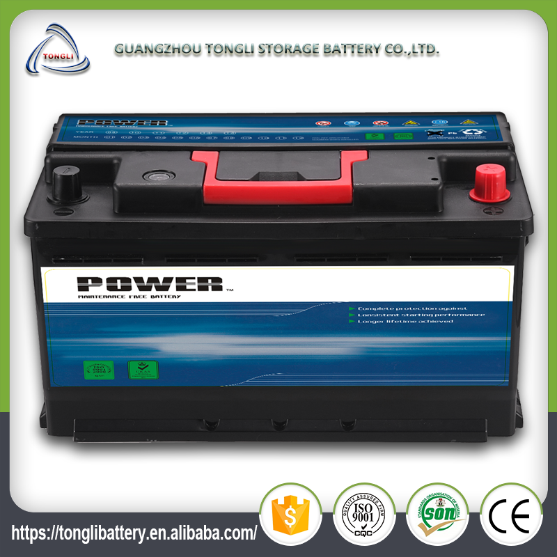 12V Good starting power car battery specifications maintenance free battery pack