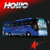 Howo 2012 JK6127HK tourist bus better than used toyota bus