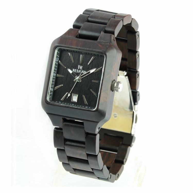 Fashion Square dial female wooden Watch