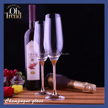 Elegant Crystal 235ml Goblet Wine Glass Clear Champagne Glass with diamond stem