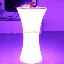 modern design led bar furniture high led cylinder table coffee table