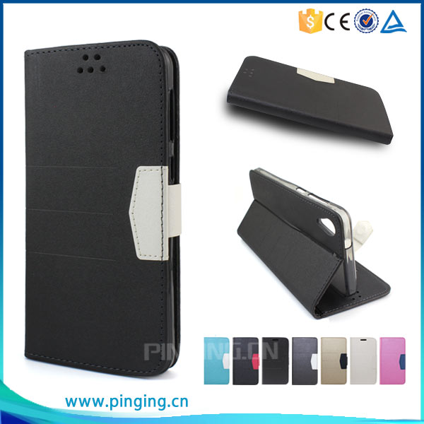 Guangzhou Pinjun scrub flip leather cover mobile phone case for leagoo m8 , wallet case for leagoo m8