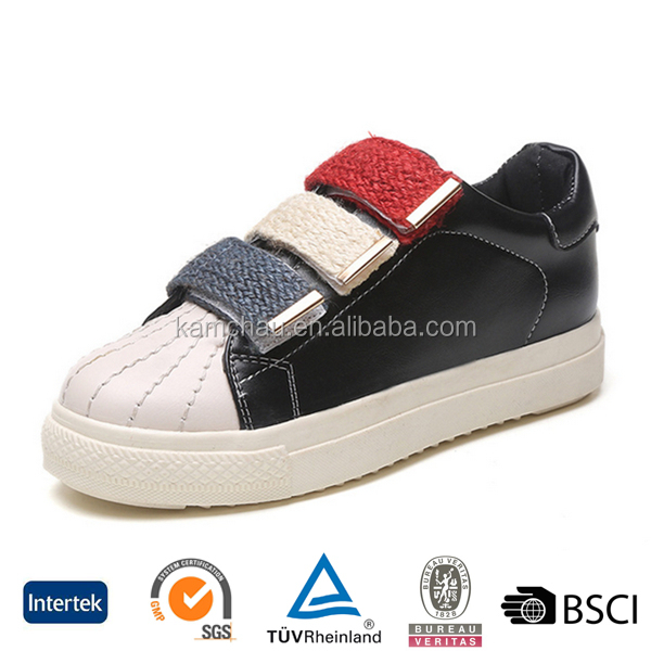 new arrival clearance womens fashion casual black leather high top sneakers without laces