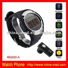 2012 Cool design GSM touch screen smart watch phone support unlocked SIM card