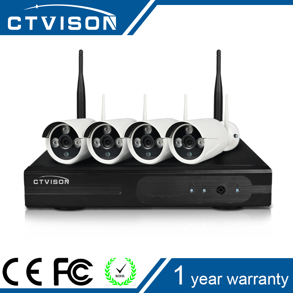 HD Wiresless NVR Kit 4CH CCTV System 960p p2pip camera Waterproof IR Night Vision Home Camera Surveillance 2TB HDD
