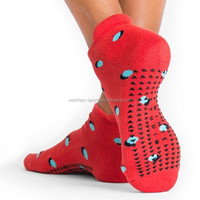 Anti Slip Professional Yoga Socks with Rubber Dots Sport Exercise Cotton Hosiery