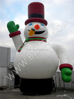Outdoor funny inflatable snow balloon Led light balloon for Chiristmas decoration C1036