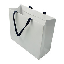 Luxury Recycled Custom Printing Logo Shopping Pack Paper Bag White