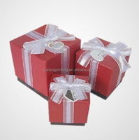 Red/black ring/watch/bracelet packaging boxes with lids 2 piece gift paper box with ribbon design available in various color