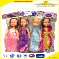 Baby plastic toy beautiful american princess girl dolls