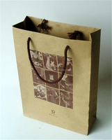 Factory cheap price kraft paper boutique shopping bags