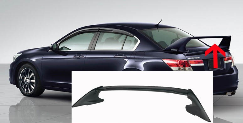 Car accessories car spoiler for 08-12 honda Accord sedan 4 door mugen style