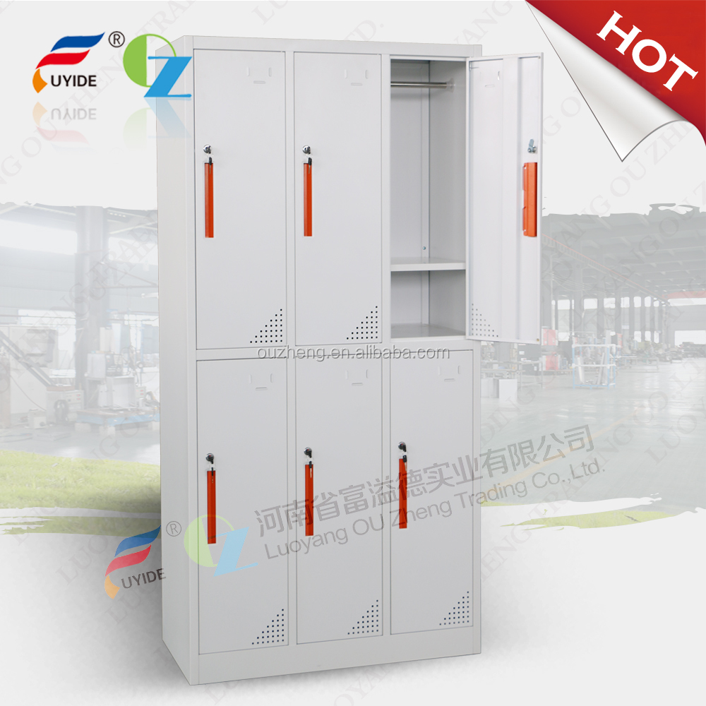 hospital dressing room worker cloakroom 6 door compact locker cabinet