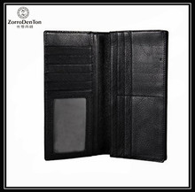 Classical Simple Design Men's Genuine Leather Bifold Card Holder Long Wallet