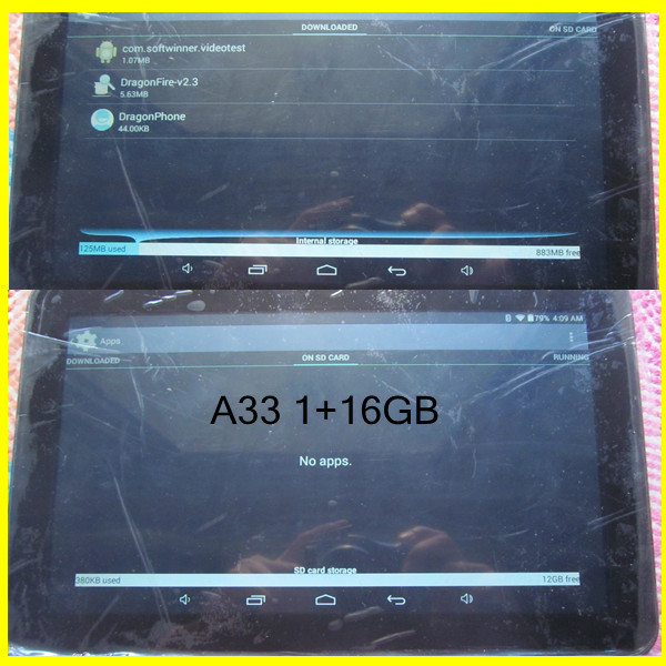10 inch Allwinner A33 processor 8GB / 16GB wifi