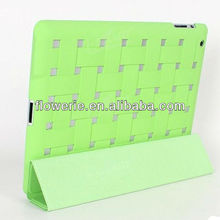 FL2488 2013 Guangzhou hot selling woven bag pattern wallet leather case for ipad 3